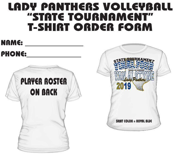 Volleyball State T-shirt Orders Thumbnail Image