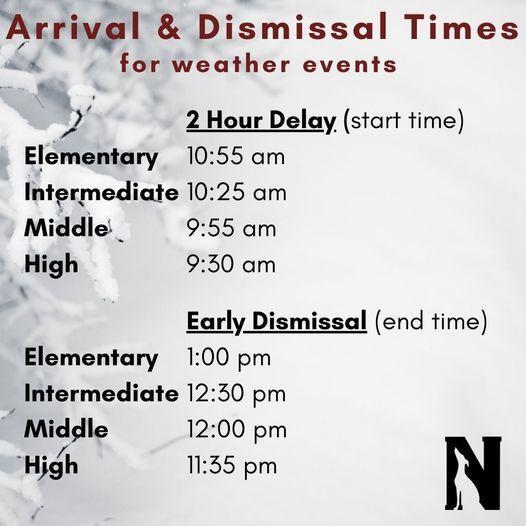 Arrival & Dismissal Times