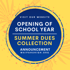 Click this post for Opening of School Year parent letters and School Dues Summer Collection for July information.
