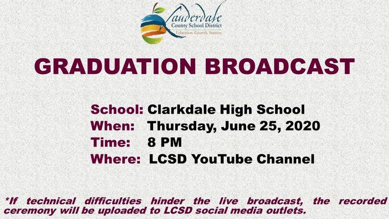 Clarkdale High School Class of 2020 Graduation Flier