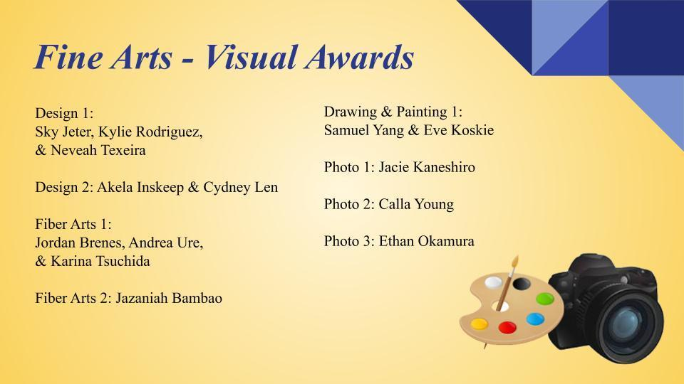 Fine Arts Visual Awards