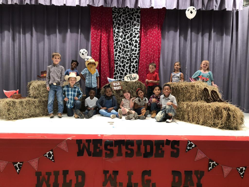 Miss Gandy's class on stage
