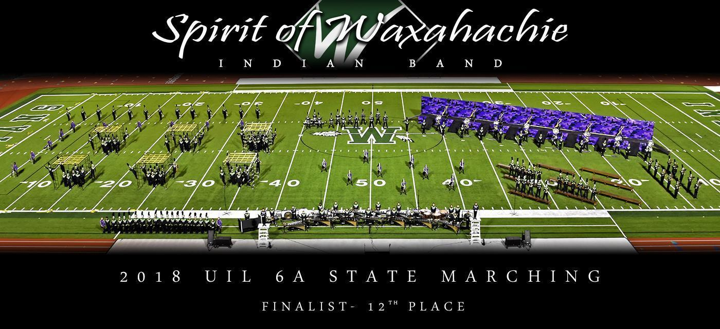 Spirit of Waxahachie Indian Band 2019.