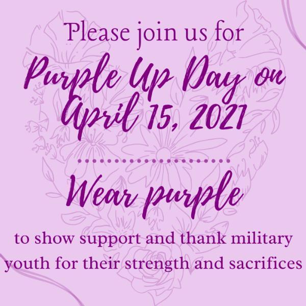 Purple Up! Thursday April 15 Featured Photo