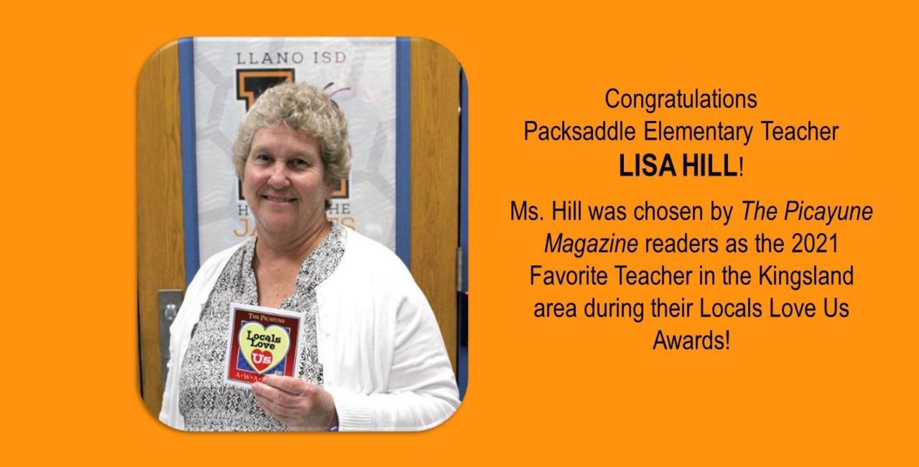 Congrats Lisa Hill