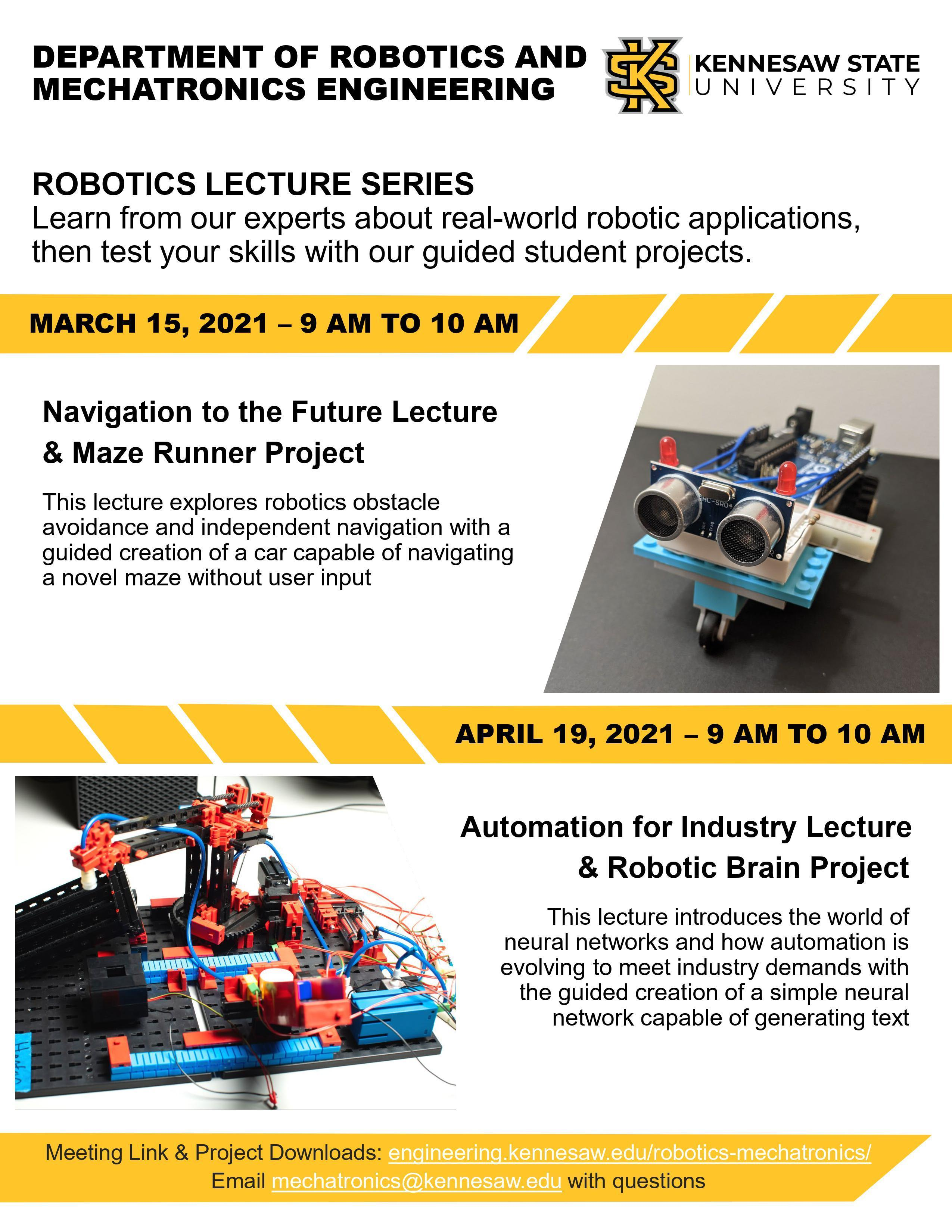 Kennesaw State Robotics Lecture Series
