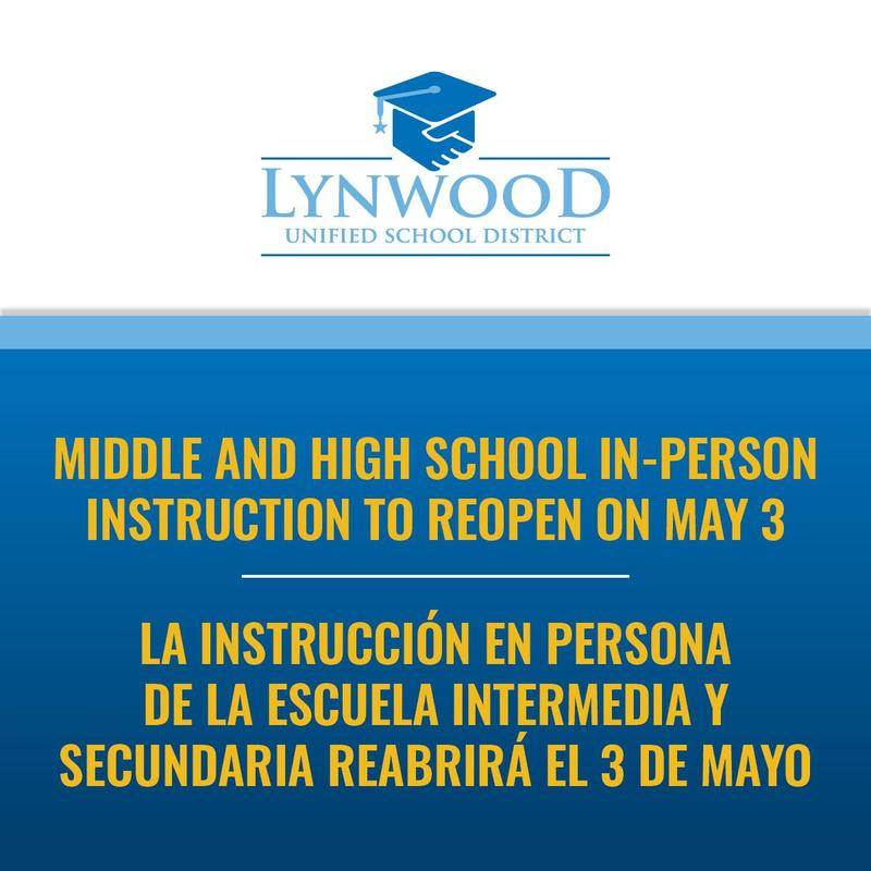 Middle and High Schools to Reopen For In-Person on May 3 Featured Photo
