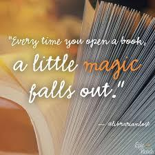 When you open a book....a little magic falls out!