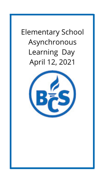 image with district logo that says elementary school asynchronous day