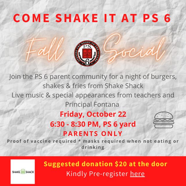 Fall Social at PS6