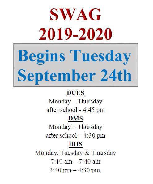 Swag start date info