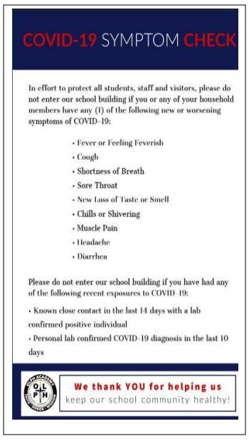 COVID-19 Symptom Check