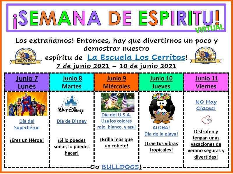Virtual Spirit Week/Semana de Espiritu Virtual Featured Photo