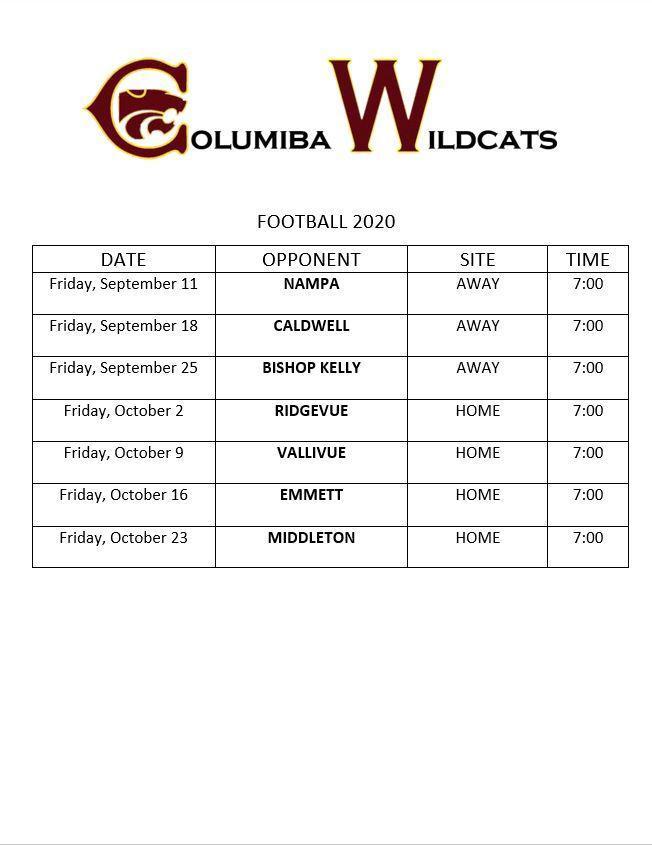 Football Schedule