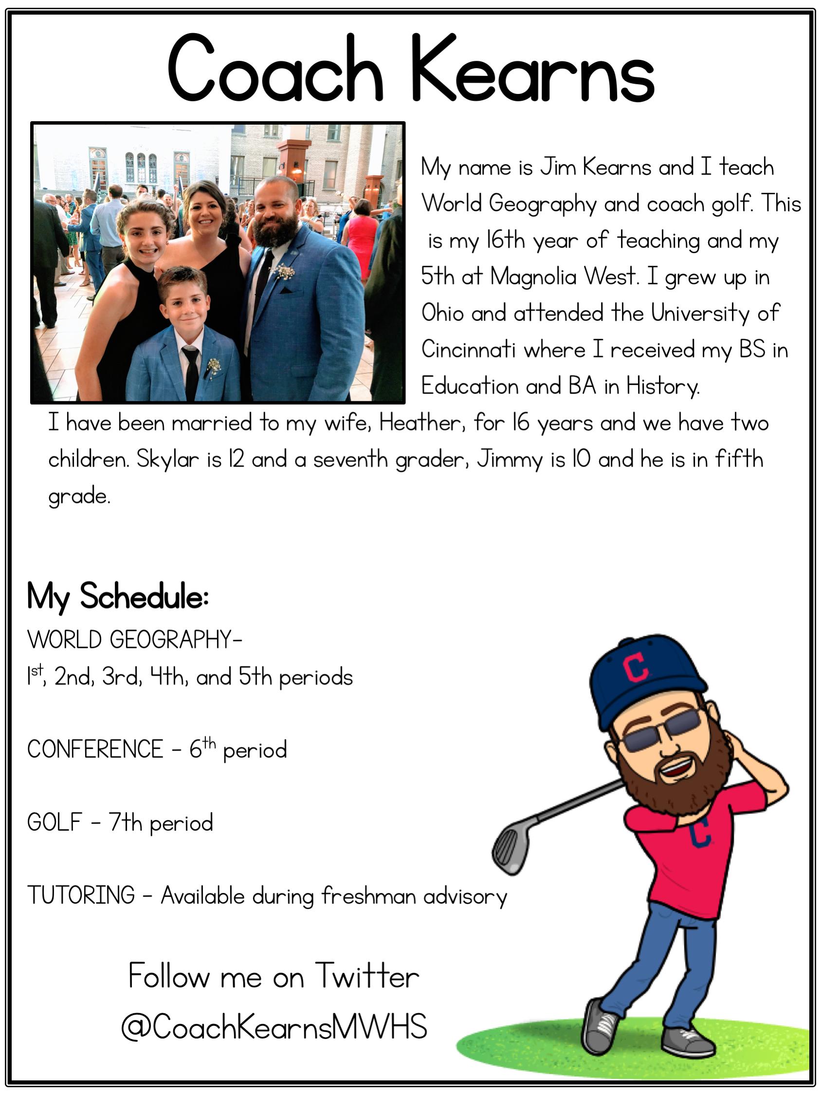 Coach Kearns Landing Page