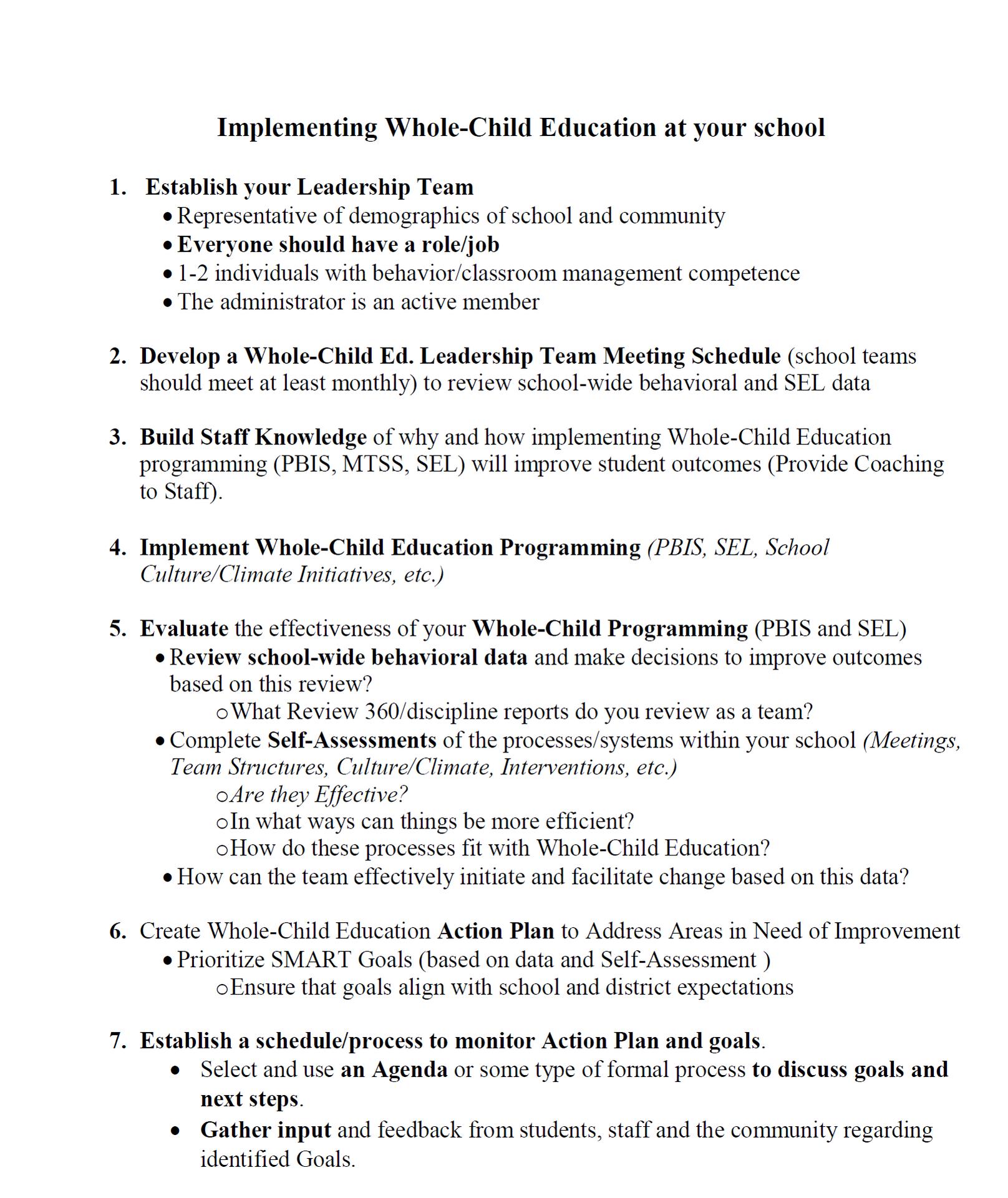 Whole Child Leadership