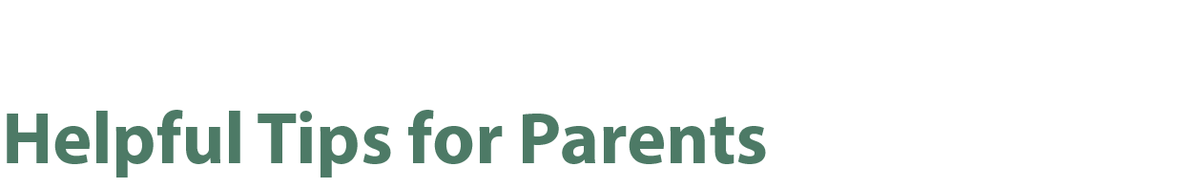 Helpful Resources for Parents