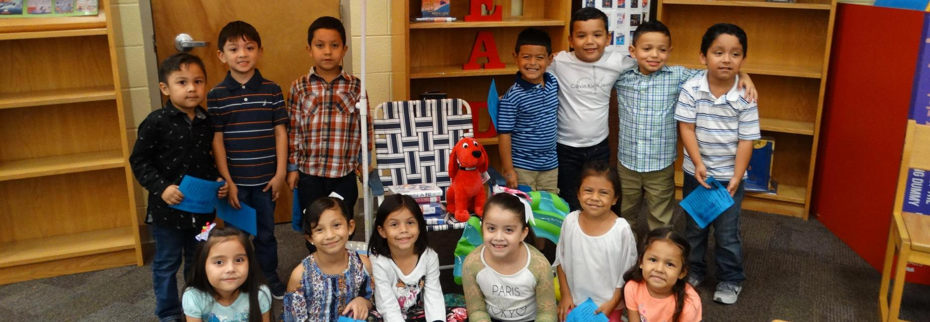 Kinder students at the Summer Reading Party