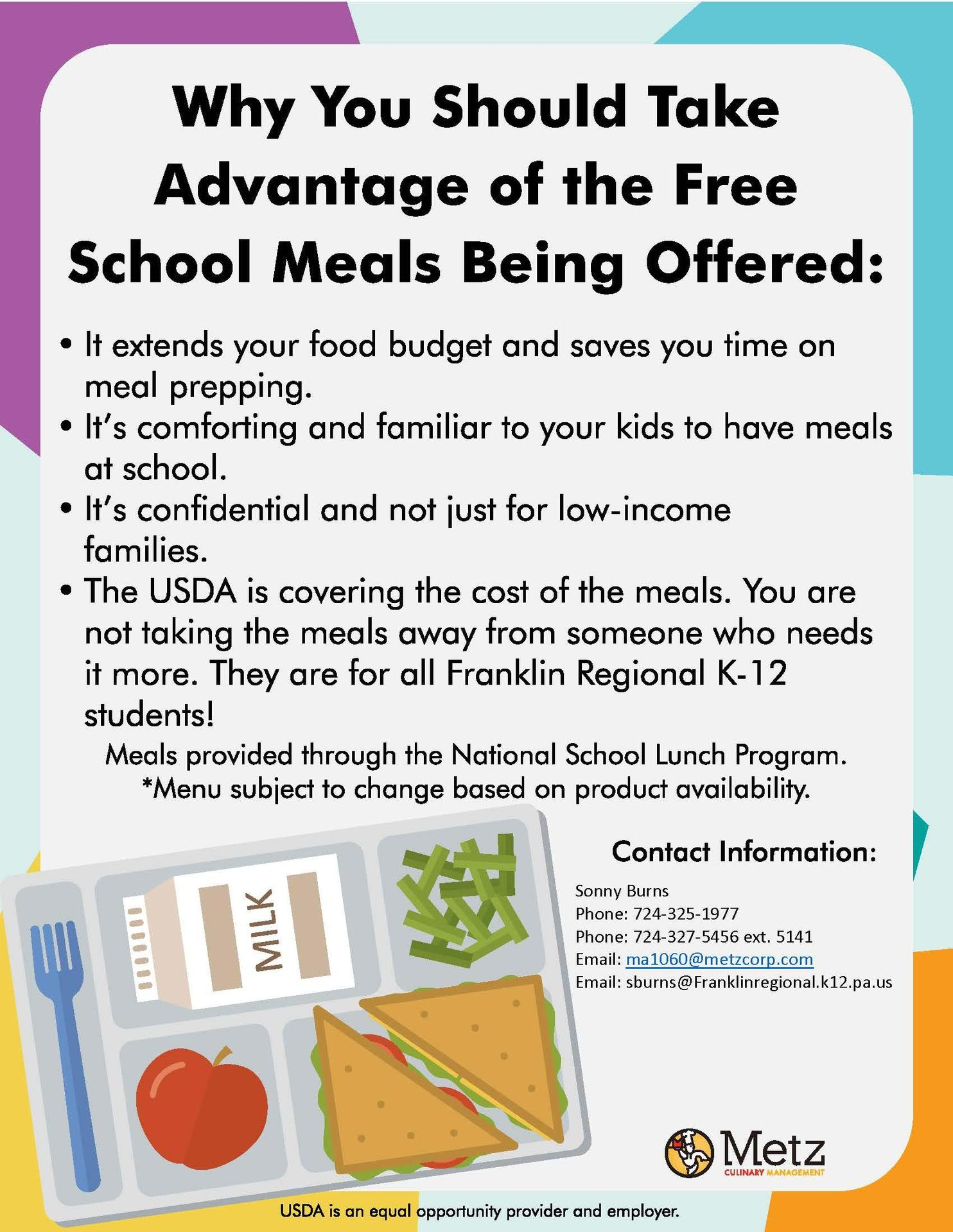 USDA FRSD Free Meals