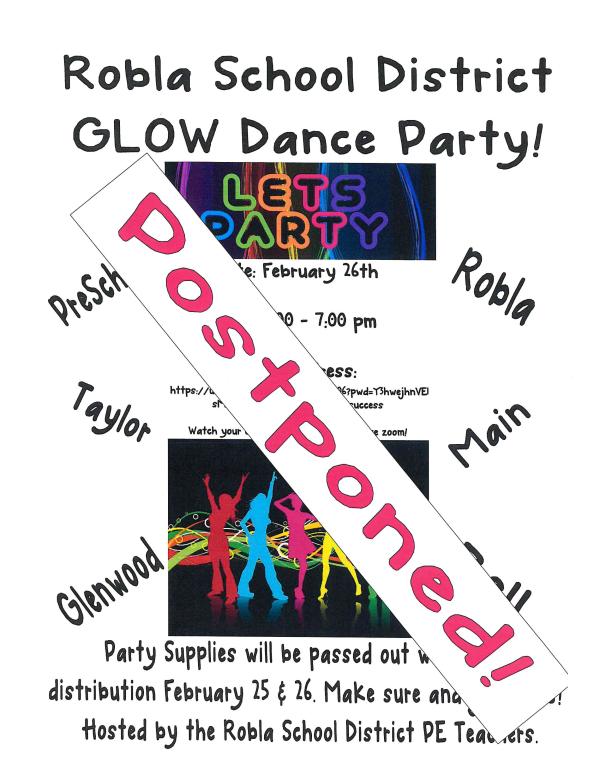 POSTPONED Glow Dance Party