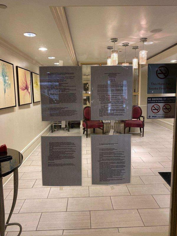 2. Agenda Posted at Courtyard Marriott in New Orleans on 110819 at 310 p.m..JPG