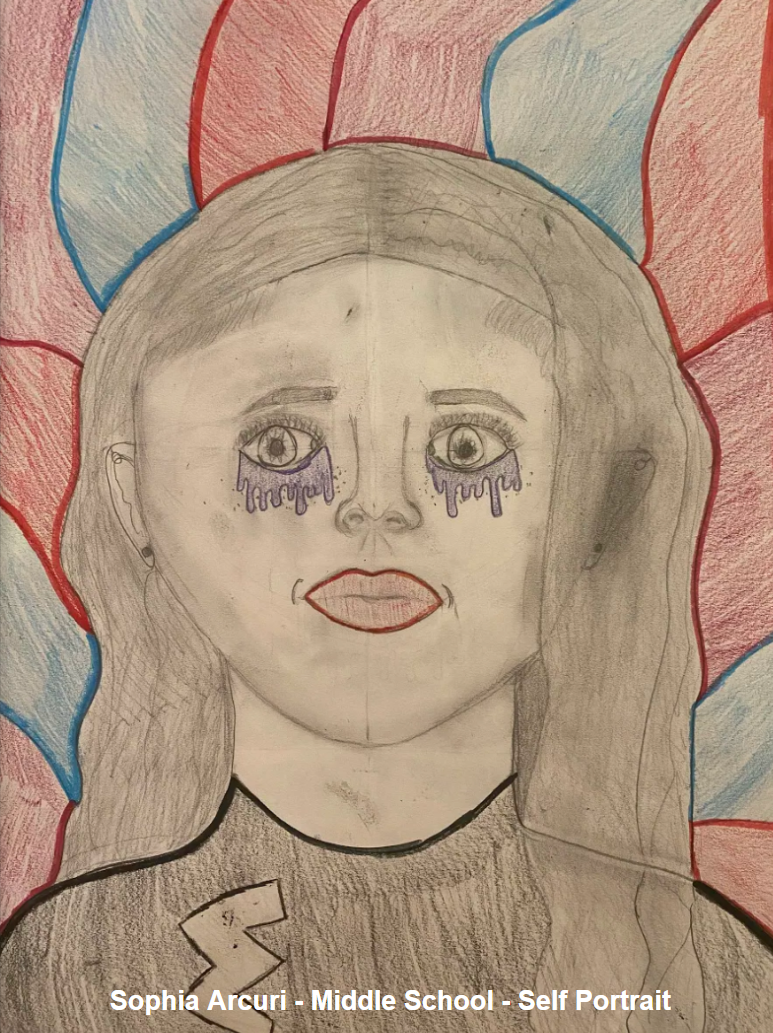 Sophia Arcuri - Middle School - Self Portrait