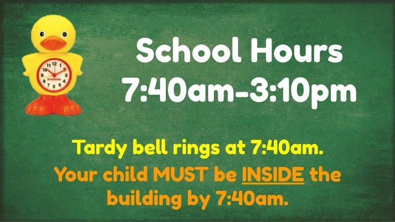 school hours 7:40-3:10