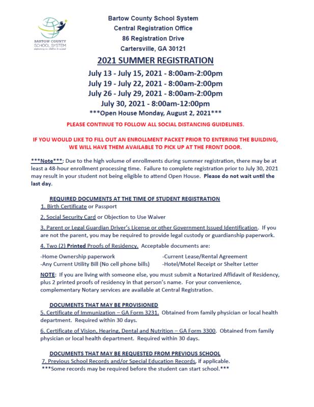 summer registration hours