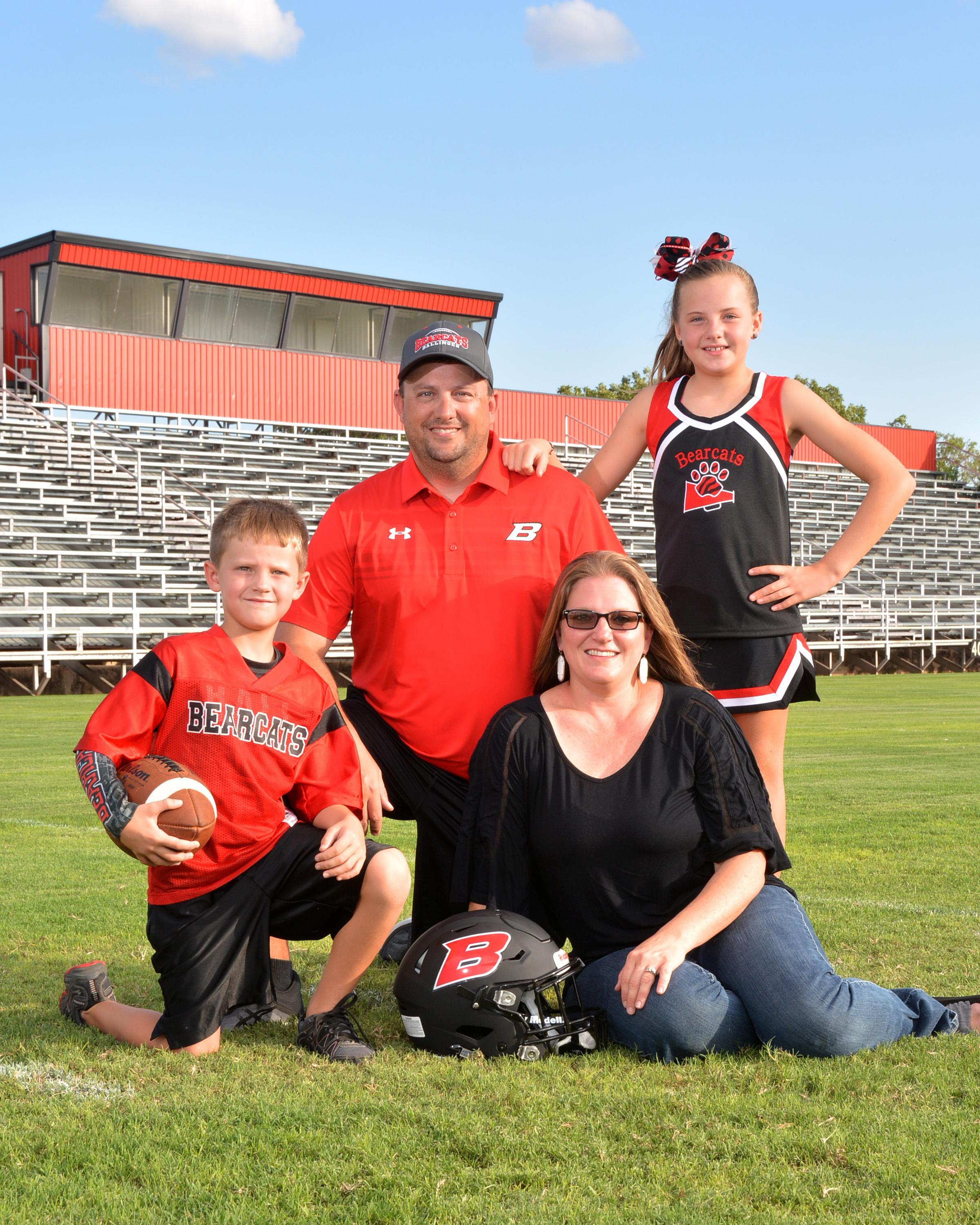 Picture of Coach Wilson's family.