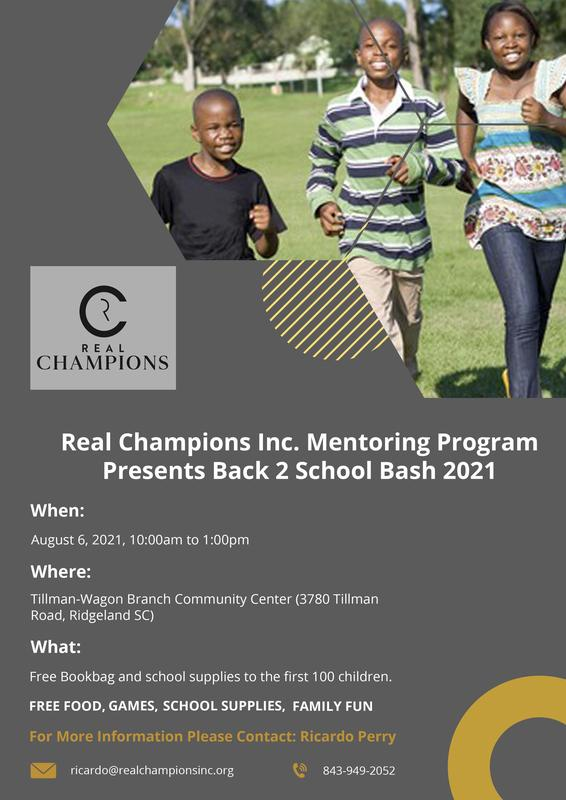Real Champions Inc. Back 2 School Bash Featured Photo