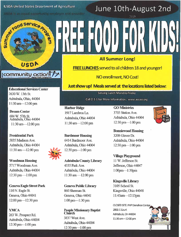 FREE FOOD FOR KIDS! Featured Photo