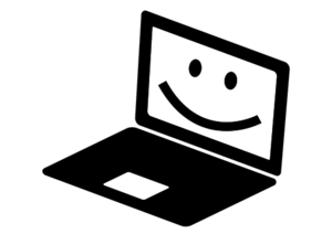 smiling computer
