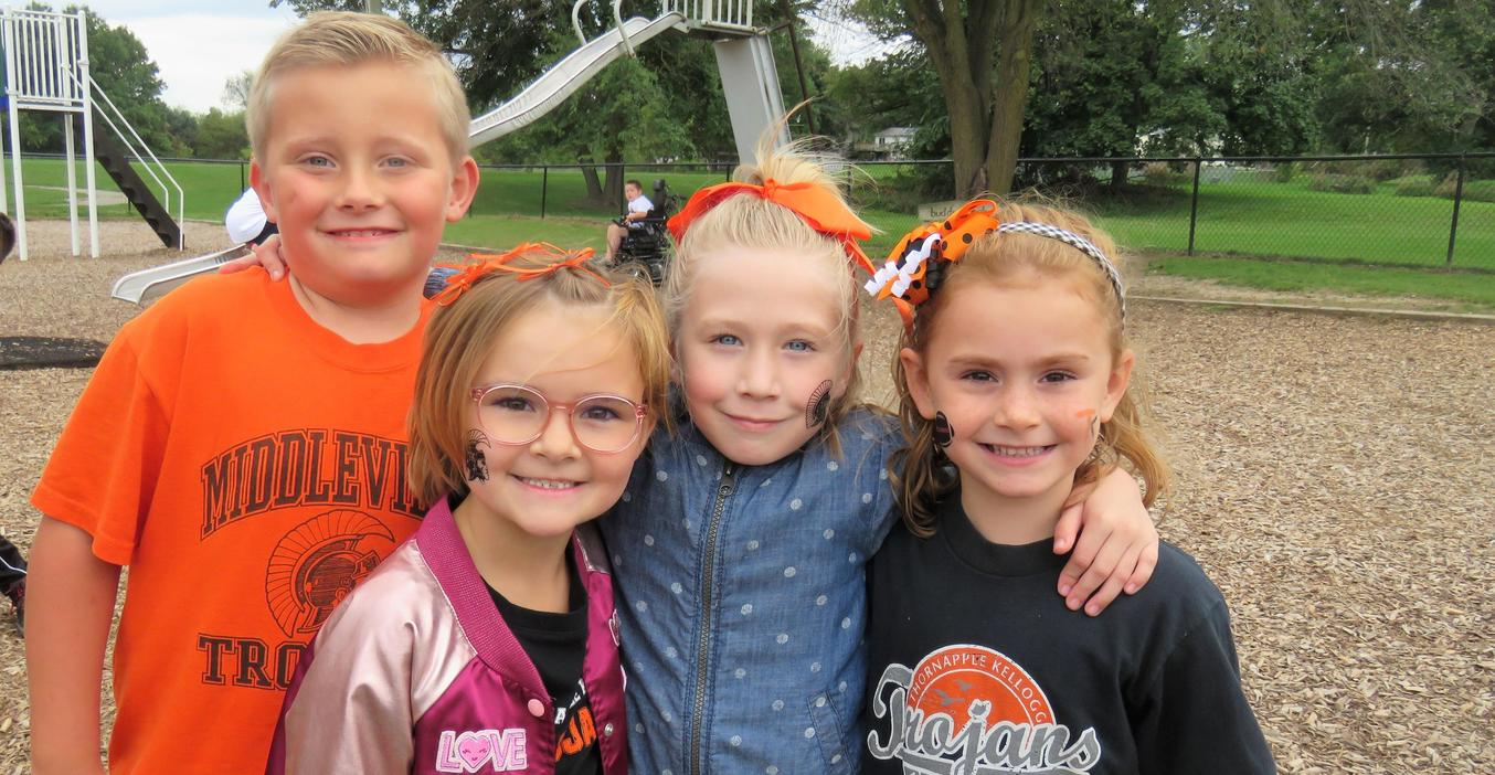 TK McFall students sport their TK colors during homecoming week.