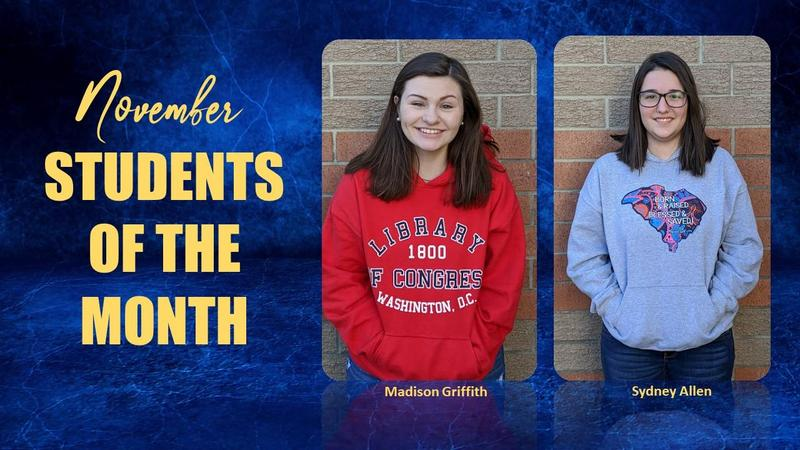 Congratulations to our new Students of the Month! Featured Photo