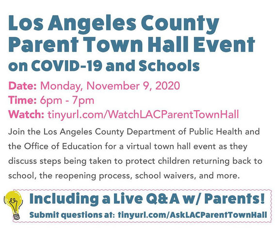 Los Angeles County Parent Town Hall Event Featured Photo