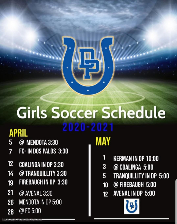 2021 Girls Soccer Schedule