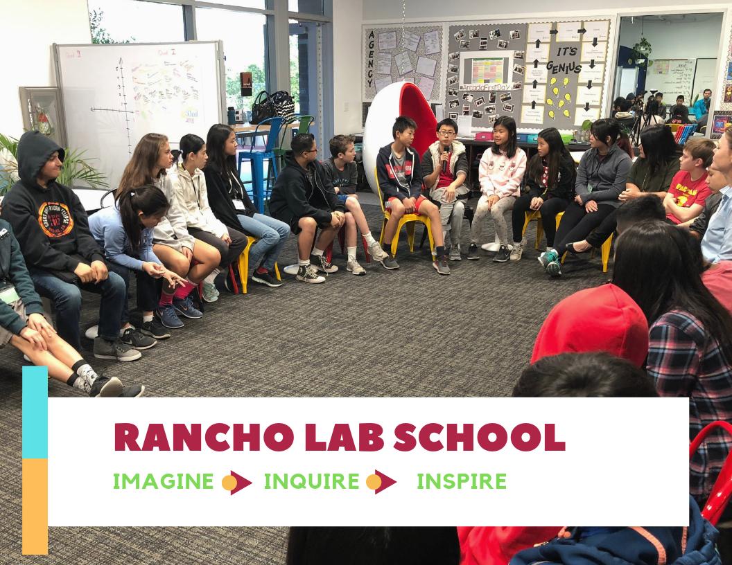 Rancho Lab School students circled up
