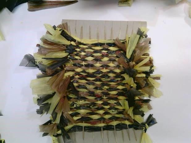 loom weaving with plarn
