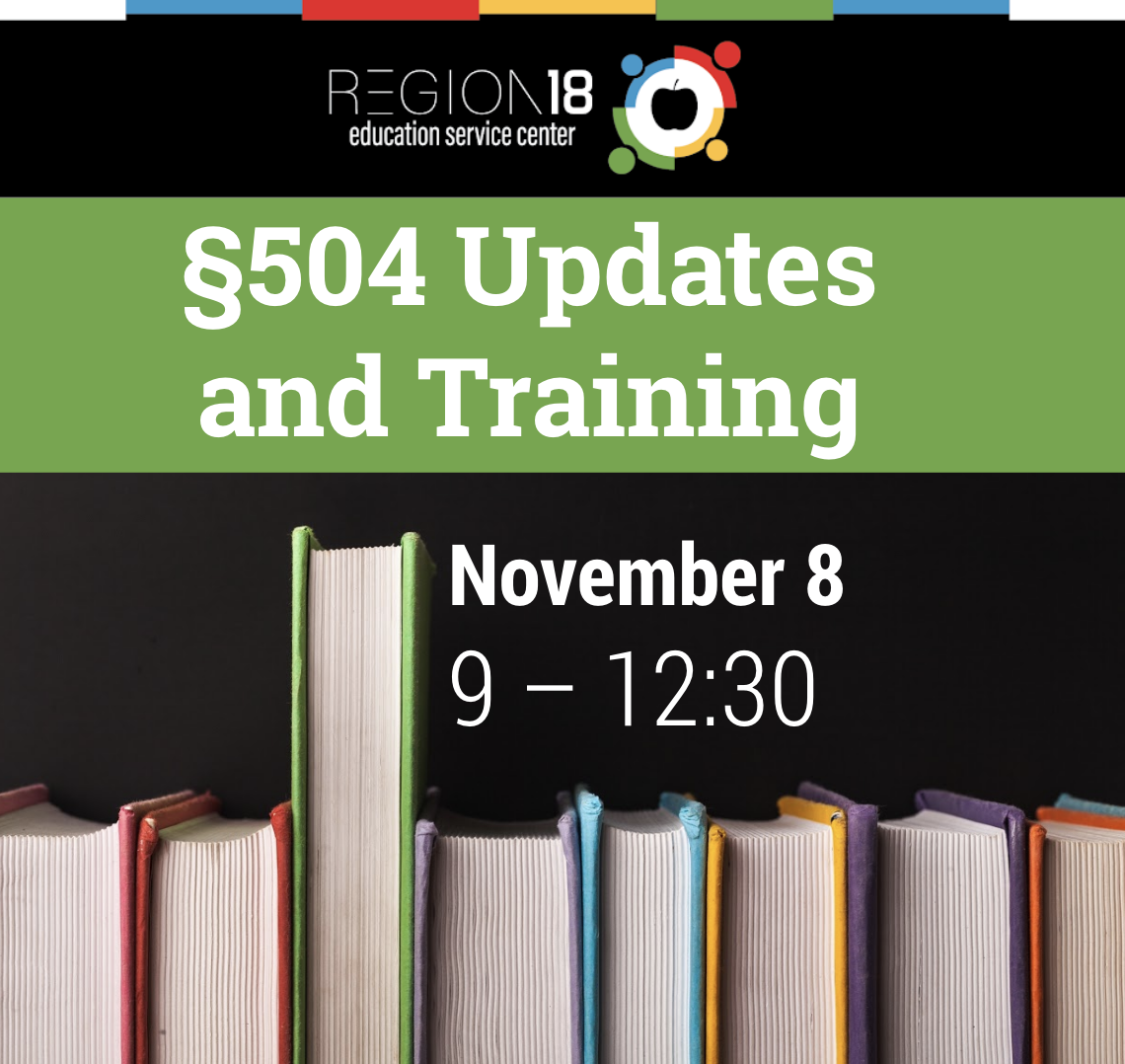 §504 Updates and Training