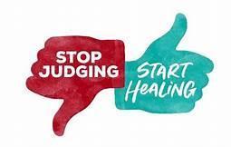 stop judging start healing