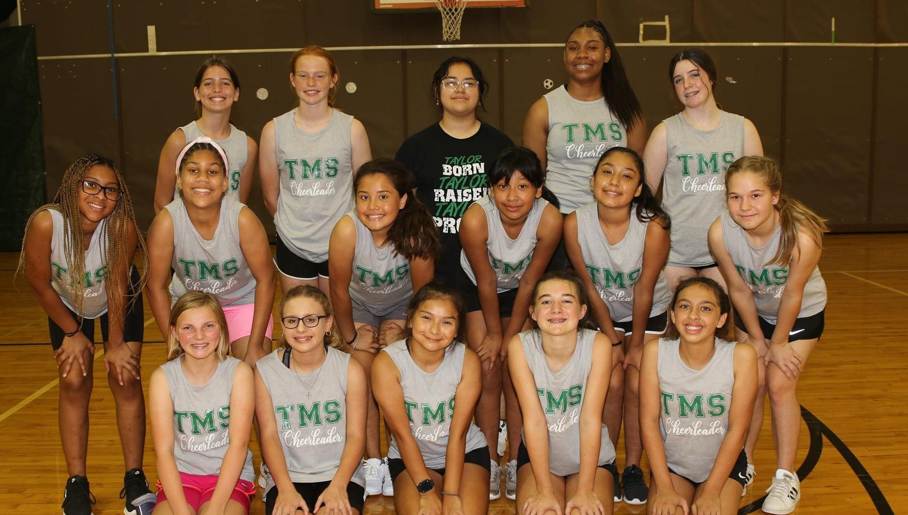 Taylor Middle School Cheerleader