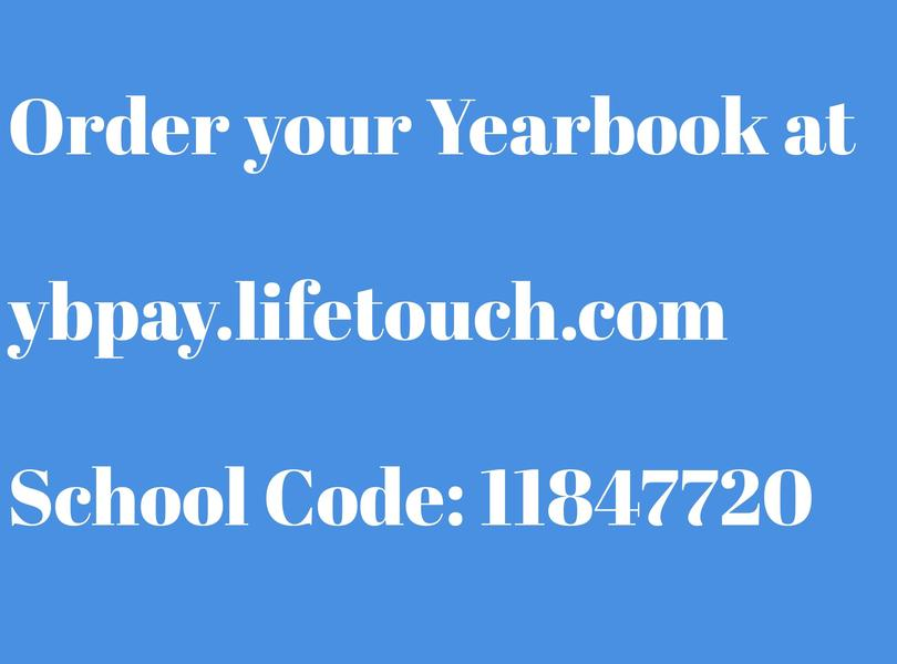 Order your yearbook At ybpay.lifetouch.com
