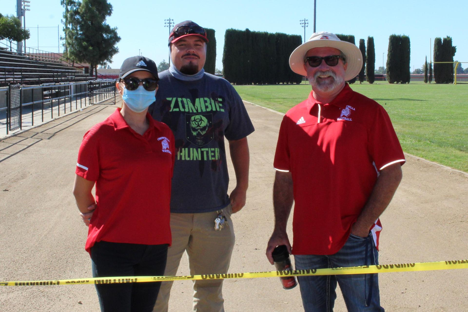 Laura Rodriguez, Pablo Chavez Ceja and Superintendent Ron Seals at the field Exit