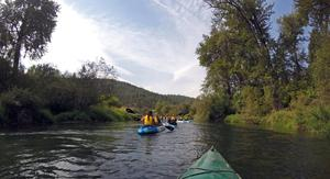 MEAD students enjoy kayaking the Little Spokane.