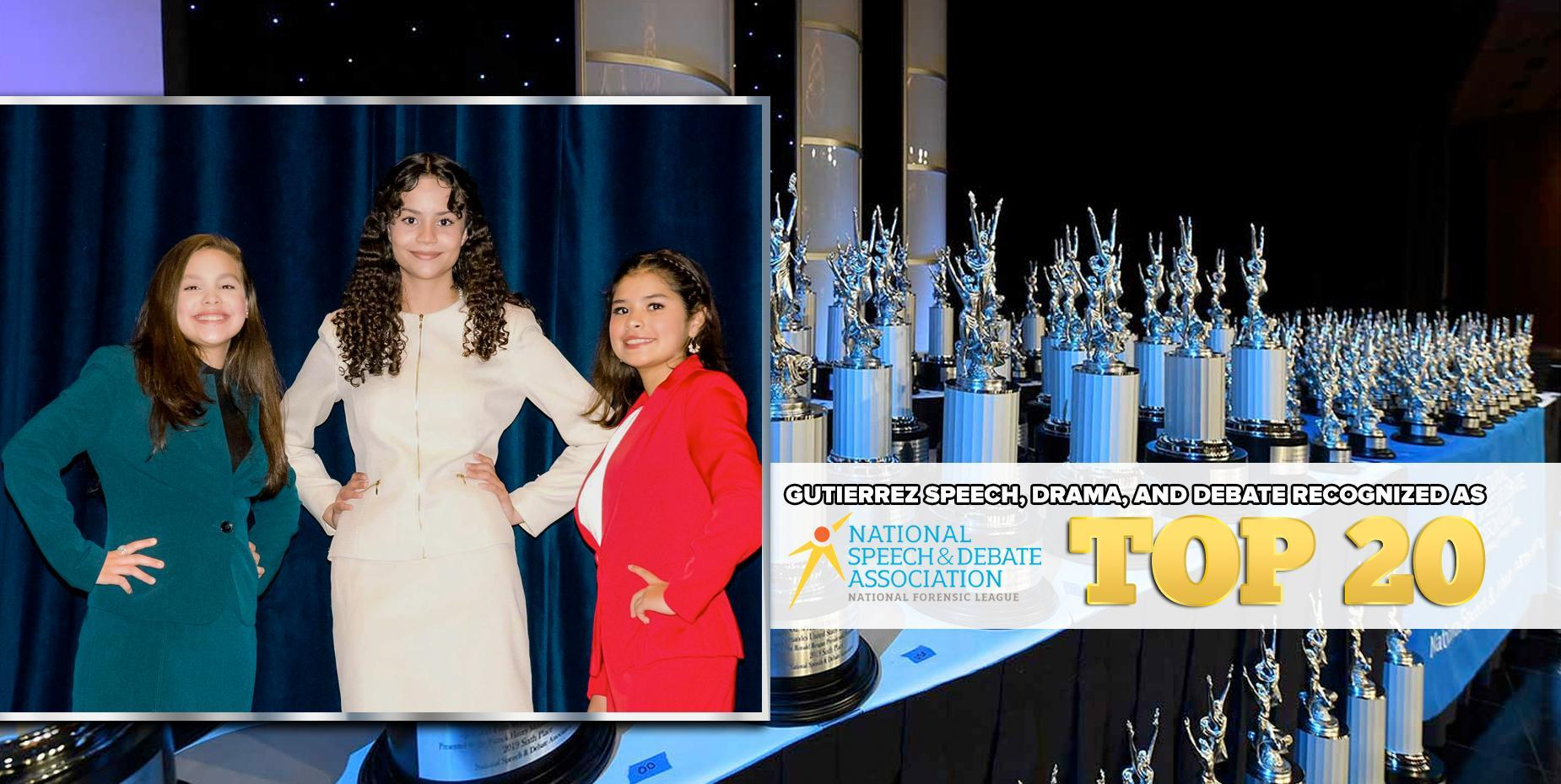 Gutierrez Speech, Drama, and Debate recognized as NSDA Top 20