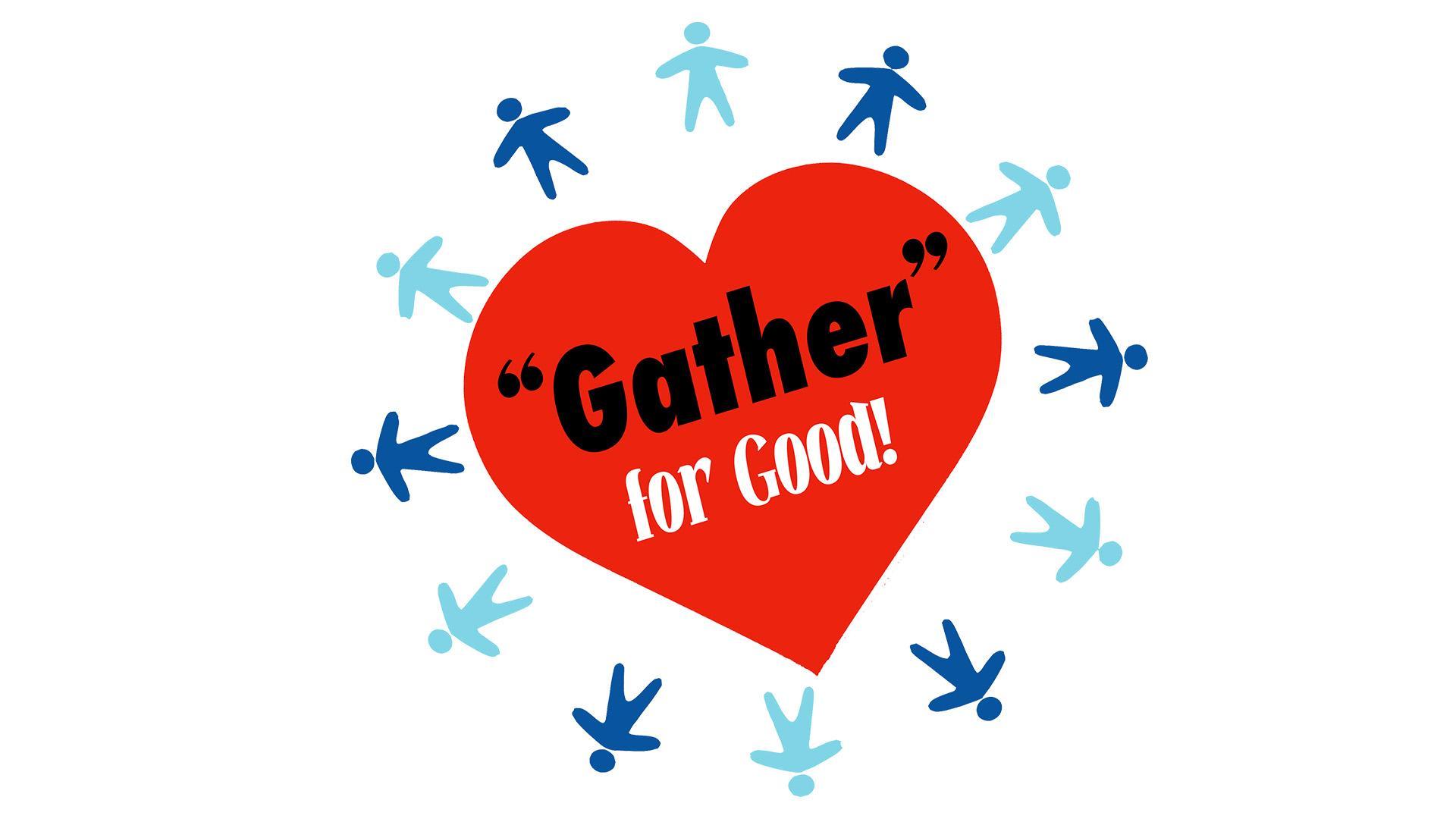 """Gather"" for Good logo"