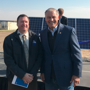 Travis Bown & Governor Jay Inslee