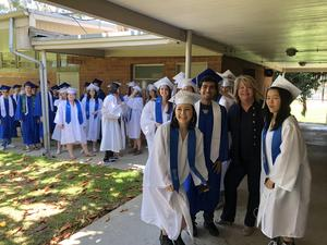 Dr. Moore at Senior Walk with Students 2018.jpg