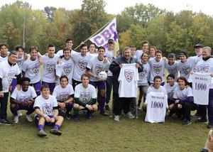 Coach Terry Michler and the CBC soccer team