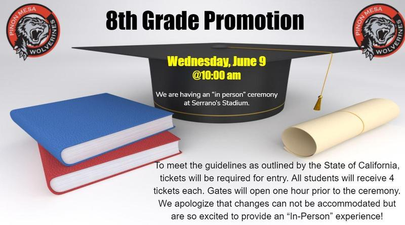 8th Grade Promotion June 9 @ 10:00 am Featured Photo